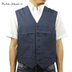 ヌーディージーンズ ジレ ベスト メンズ Nudie Jeans Eino WaistCoat 160284 Blue o|i-mixon