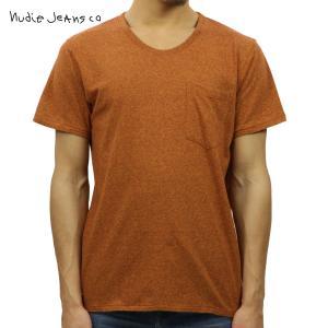 ヌーディージーンズ Tシャツ メンズ Nudie Jeans 半袖 Roundneck Pocket Tee Organi|i-mixon