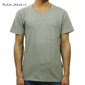 ヌーディージーンズ 正規販売店 メンズ 半袖Tシャツ Roundneck Pocket Tee Organic Melan|i-mixon