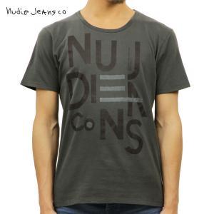 ヌーディージーンズ Tシャツ メンズ Nudie Jeans 半袖 Round Neck T-Shirt 131266 B|i-mixon