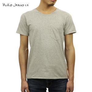 ヌーディージーンズ Tシャツ メンズ Nudie Jeans 半袖 Round Neck Org. Pocket Tee|i-mixon