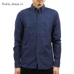 ヌーディージーンズ シャツ メンズ Nudie Jeans 長袖 Stanley Org. Deep Blue Denim|i-mixon