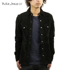 ヌーディージーンズ シャツ メンズ Nudie Jeans 長袖 Jonis Suede Shirt Black B01|i-mixon