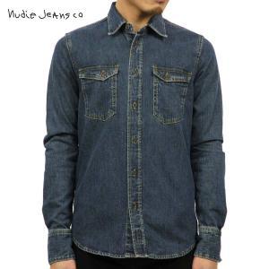ヌーディージーンズ シャツ メンズ Nudie Jeans 長袖 Gunnar 140316 3014 B26 Denim|i-mixon