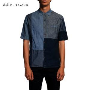 ヌーディージーンズ シャツ メンズ Nudie Jeans 正規販売店 半袖 Brody Crazy Pattern 14|i-mixon