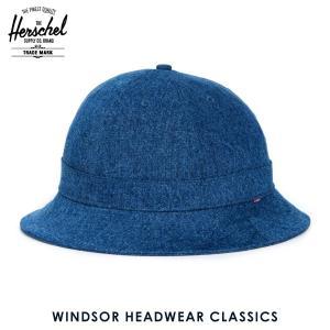 ハーシェル ハット 正規販売店 Herschel Supply ハーシェルサプライ 帽子 Windsor HEADWEAR CLASSICS 1029-0083-OS Mid Wash Denim i-mixon