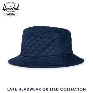 ハーシェル ハット 正規販売店 Herschel Supply ハーシェルサプライ 帽子 Lake S/M HEADWEAR QUILTED COLLECTION 1025-0107-SM Navy Quilted Nylon i-mixon