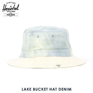 ハーシェル キャップ 正規販売店 Herschel Supply ハーシェルサプライ LAKE BUCKET HAT DENIM 1076-0403-SM BLEACHED DENIM/SDEDE i-mixon