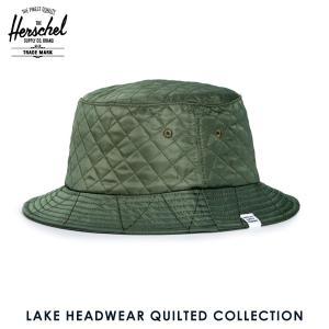 ハーシェル ハット 正規販売店 Herschel Supply ハーシェルサプライ 帽子 Lake S/M HEADWEAR QUILTED COLLECTION 1025-0108-SM Army Quilted Nylon i-mixon