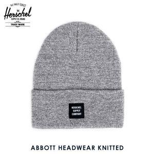 ハーシェル キャップ 正規販売店 Herschel Supply ハーシェルサプライ ニットキャップ Abbott HEADWEAR KNITTED 1001-0110-OS Heathered Grey i-mixon