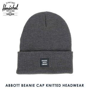 ハーシェル キャップ 正規販売店 Herschel Supply ハーシェルサプライ ニットキャップ ABBOTT BEANIE CAP KNITTED HEADWEAR 1001-0002-OS HEATHERED GREY i-mixon