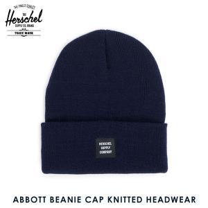 ハーシェル キャップ 正規販売店 Herschel Supply ハーシェルサプライ ニットキャップ ABBOTT BEANIE CAP KNITTED H i-mixon
