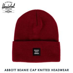 ハーシェル キャップ 正規販売店 Herschel Supply ハーシェルサプライ ニットキャップ ABBOTT BEANIE CAP KNITTED HEADWEAR 1001-0078-OS WINDSOR WINE i-mixon