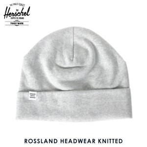 ハーシェル キャップ 正規販売店 Herschel Supply ハーシェルサプライ ニットキャップ Rossland HEADWEAR KNITTED 1004-0008-OS Heathered Grey i-mixon