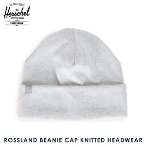 ハーシェル キャップ 正規販売店 Herschel Supply ハーシェルサプライ ニットキャップ ROSSLAND BEANIE CAP KNITTED HEADWEAR 1004-0110-OS HEATHERED GREY i-mixon