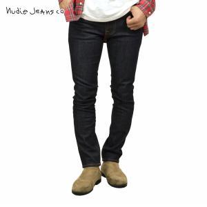 ヌーディージーンズ ジーンズ メンズ 正規販売店 Nudie Jeans ジーパン レンディーン LEAN DEAN 498 1119460 DENIM JEANS BLACK DRY 16 DIPS|i-mixon