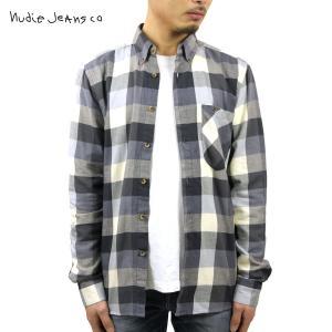 ヌーディージーンズ シャツ メンズ Nudie Jeans 長袖 Stanley Blue 140340|i-mixon