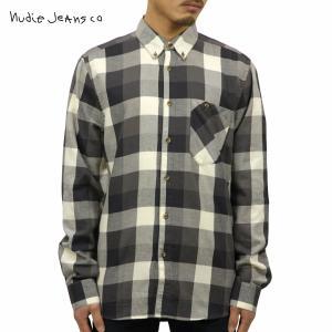 ヌーディージーンズ シャツ メンズ Nudie Jeans 長袖 Stanley Black 140340|i-mixon