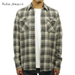 ヌーディージーンズ シャツ メンズ Nudie Jeans 長袖 Gunnar Grey 140345|i-mixon