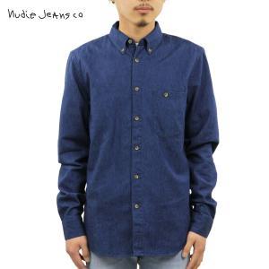 ヌーディージーンズ シャツ メンズ Nudie Jeans 長袖 Stanley Blue 140347|i-mixon