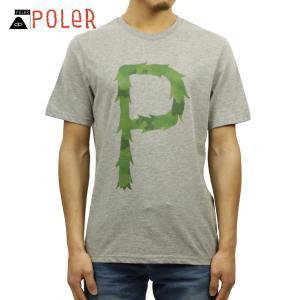 ポーラー Tシャツ 正規販売店 POLER 半袖Tシャツ TEE FURRY P 611102-GRY HEATHER GR|i-mixon