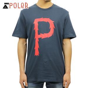 ポーラー Tシャツ 正規販売店 POLER 半袖Tシャツ TEE FURRY P 611102-BLU BLUE STEEL|i-mixon