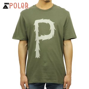 ポーラー Tシャツ 正規販売店 POLER 半袖Tシャツ TEE FURRY P 611102-OLV BURNT OLIV|i-mixon