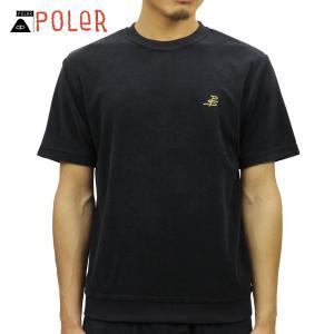 ポーラー Tシャツ メンズ 正規販売店 POLER 半袖Tシャツ TERRY FLYNT FLEECE SHIRT 611144-BLU BLUE STEEL|i-mixon