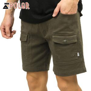 ポーラー ショートパンツ メンズ 正規販売店 POLER ボトムス CAMP SHORT 611147-OLV BURNT OLIV|i-mixon