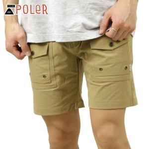 ポーラー ショートパンツ メンズ 正規販売店 POLER ハーフパンツ CAMP SHORT 211APM4001 KHAKI|i-mixon
