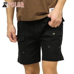 ポーラー ショートパンツ メンズ 正規販売店 POLER ボトムス CAMP SHORT 211APM4001 BLACK|i-mixon