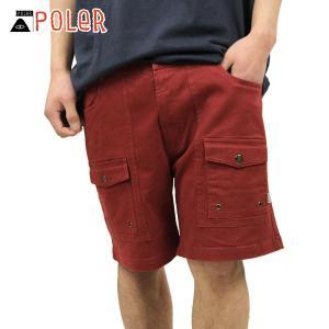 ポーラー ショートパンツ メンズ 正規販売店 POLER ボトムス CAMP SHORT 611147-BRG BRICK|i-mixon