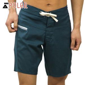 ポーラー ショートパンツ メンズ 正規販売店 POLER ボトムス SLIDER TRUNK 611150-BLU BLUE STE|i-mixon