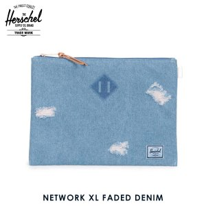 ハーシェル バッグ 正規販売店 Herschel Supply ハーシェルサプライ ポーチ ポシェット NETWORK XL FADED DENIM 10164-01046|i-mixon