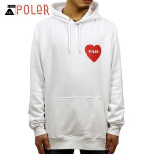 ポーラー パーカー メンズ 正規販売店 POLER HEART HOODIE 631175-WHT WHITE|i-mixon