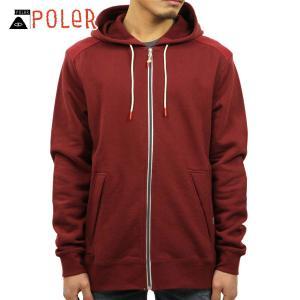 ポーラー パーカー メンズ 正規販売店 POLER MEN'S YOLKED HOODIE 637146-MER MERL|i-mixon