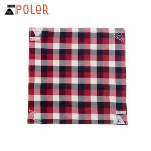 ポーラー POLER 正規販売店 バンダナ スカーフ BANDANAS 636022-RED RED|i-mixon