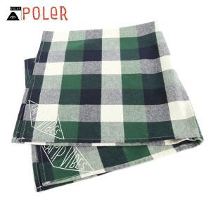 ポーラー POLER 正規販売店 バンダナ スカーフ BANDANAS 636022-GRN GREEN|i-mixon