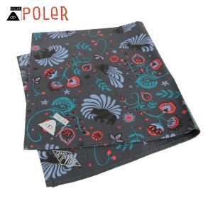 ポーラー POLER 正規販売店 バンダナ スカーフ BANDANAS 636024-BLK BLACK|i-mixon