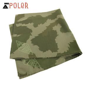 ポーラー POLER 正規販売店 バンダナ スカーフ BANDANAS 636025-GCO GREEN FURRY CA|i-mixon