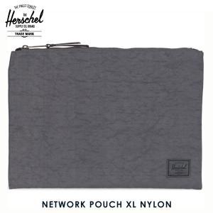 ハーシェル バッグ 正規販売店 Herschel Supply ハーシェルサプライ ポーチ ポシェット NETWORK POUCH XL NYLON 10164-01128-OS DARK SHADOW|i-mixon