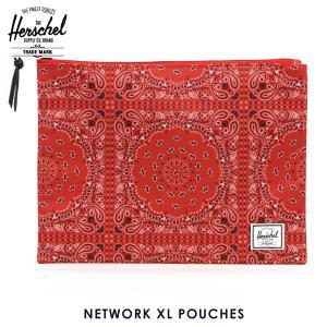 ハーシェル バッグ 正規販売店 Herschel Supply ハーシェルサプライ ポーチ ポシェット NETWORK XL POUCHES POUCHES 10164-01249-OS RED BANDANA|i-mixon