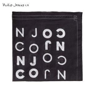 ヌーディージーンズ メンズ Nudie Jeans 正規販売店 スカーフ Jansson B01 Black 180649|i-mixon