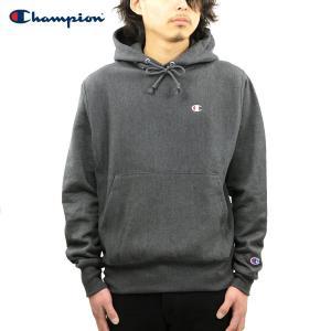 チャンピオン パーカー メンズ 正規品 CHAMPION  PULLOVER PARKA S4968 Reverse Weave PO Hood G61-GRANITEHEATHER #549302 Left chest C logo|i-mixon