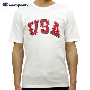 チャンピオン Tシャツ 正規品 CHAMPION 半袖Tシャツ  CREW TEE T1919P Heritage Tee 045-WHITE 549393 USA Arch|i-mixon