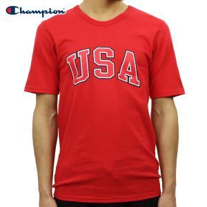 チャンピオン Tシャツ 正規品 CHAMPION 半袖Tシャツ  CREW TEE T1919P Heritage Tee W3J-TEAMREDSCARLET 549393 USA Arch|i-mixon