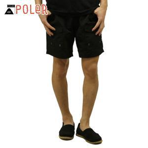 ポーラー POLER 正規販売店 メンズ スイムパンツ CAMP VOLLEY SHORT 611148-BLK BLACK|i-mixon