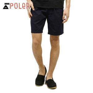 ポーラー ショートパンツ メンズ 正規販売店 POLER ボトムス GULLY PULLON SHORT 718105-NVY NAVY|i-mixon