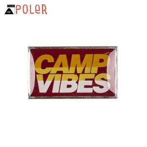 ポーラー POLER 正規販売店 ピン CAMP VIBES PIN 706003-RED RED|i-mixon