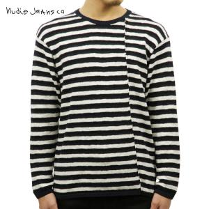 ヌーディージーンズ セーター メンズ Nudie Jeans 正規販売店 TONY OFFWHITE/BLACK W08 i-mixon